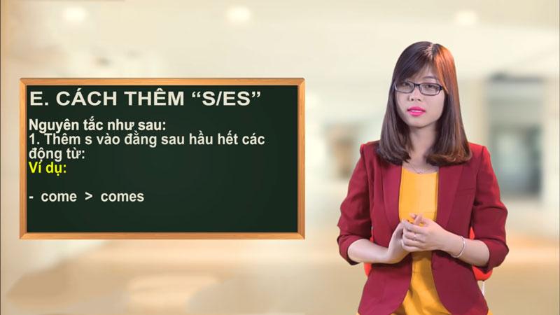 Cách Thêm S và ES Cho Động Từ