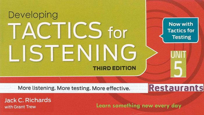 Tactics For Listening – giáo trình luyện nói tiếng anh bạn không nên bỏ qua