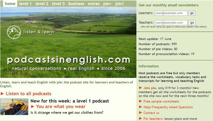 Luyện nghe tiếng anh giao tiếp với podcasts in Englishnhanh chóng