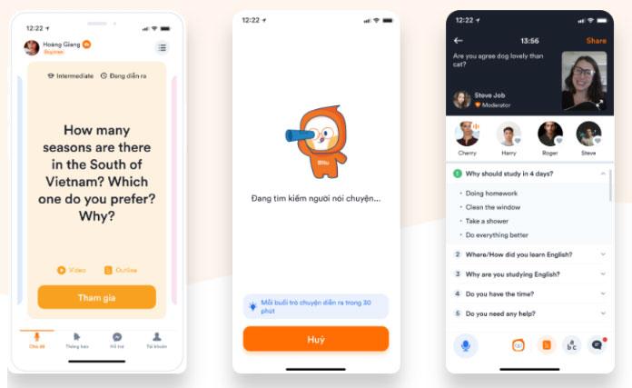 Học giao tiếp tiếng Anh qua app Bitu