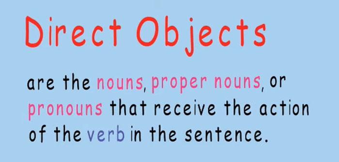 Túc từ trực tiếp - direct object