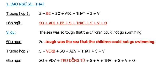 Các cấu trúc đảo ngữ thông dụng