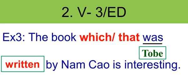 Rút gọn mệnh đề quan hệ với V-ed-V3